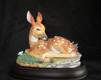 Fawn Of White Tail by Andrea Vintage Porcelain #5806