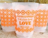 Fiesta Cups, Personalized, Shatterproof, Monogrammed, Custom, Frost Flex, Engagement, Couples Shower, Lets Taco Bout Love, Fiesta