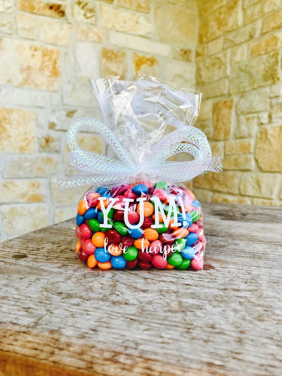 Goodie Bag Plastic Gift Bags Candy Buffet Wedding Personalized Treat Bags Party Favor Birthday Welcome Team Spirit Valentine