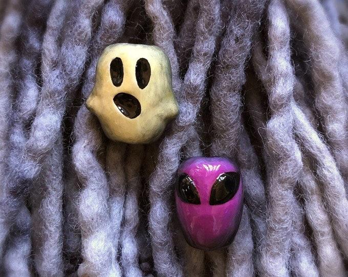 Dreadlock Bead Styles Dread Bead Art Dreadlock Accessories Ghost and Alien Dread Bead Set Dreadlock Fashion Dreadlock Beads
