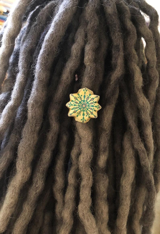 Dreadlock Accessories Snowflake Dreadlock Beads Dreadlock Jewelry Dread Beads Winter Dread Bead Dreadlock Beads