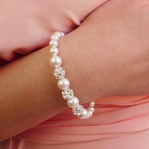 Pearl Wedding Braceletpearl bracelet weddingCrystal and Pearl BraceletMulti Strand Pearl braceletBridal pearl braceletNew Year bracelet