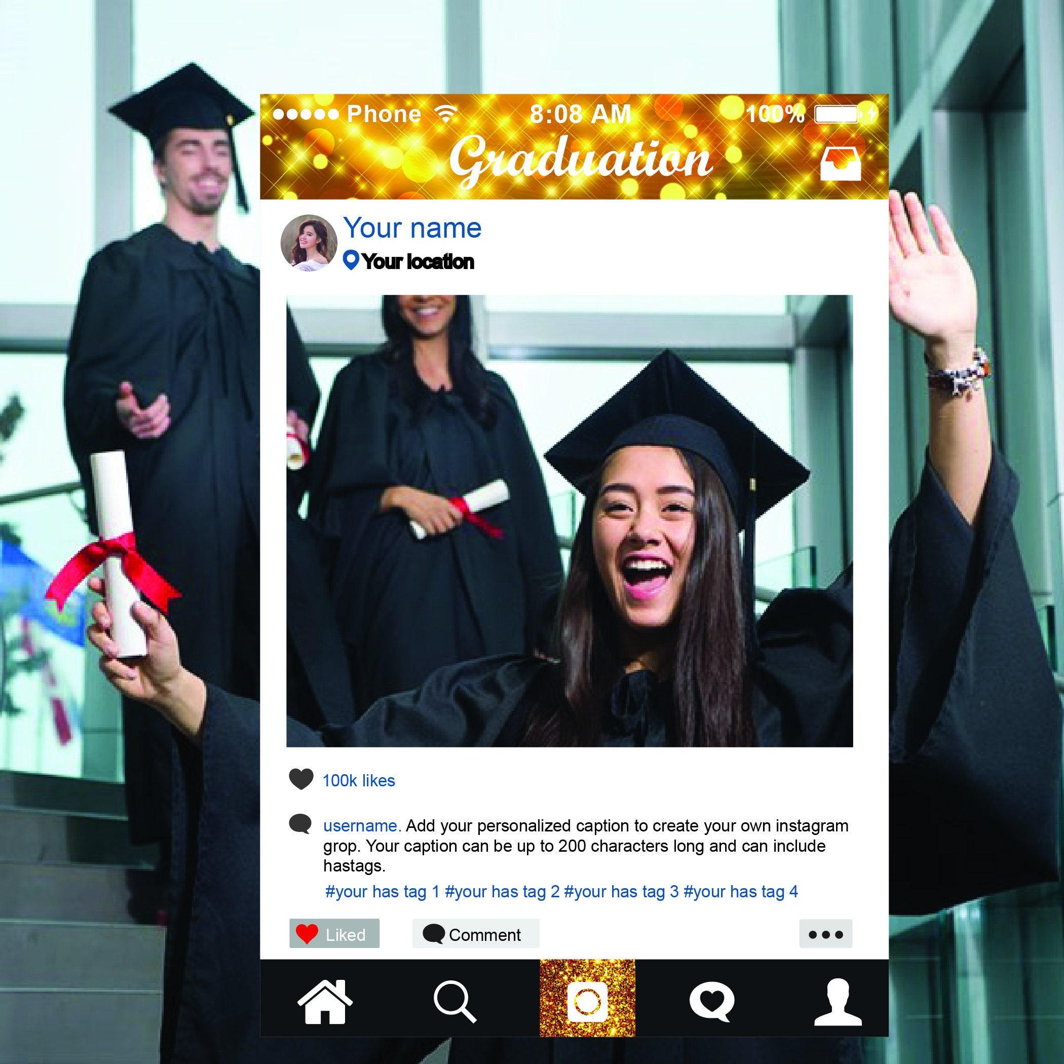 Abschluss-Rahmen Instagram Rahmen Fotostand Stütze Instagram