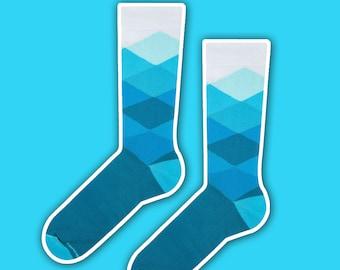 Gerard - cool turquoise vintage socks | men socks | blue socks | cool socks | crazy socks | gift socks | colorful socks | unique socks