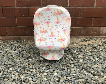 4-in-1 Stretchy Nursing Cover, Car Seat Cover, Shopping and High Chair Cover (Unique Unicorns)