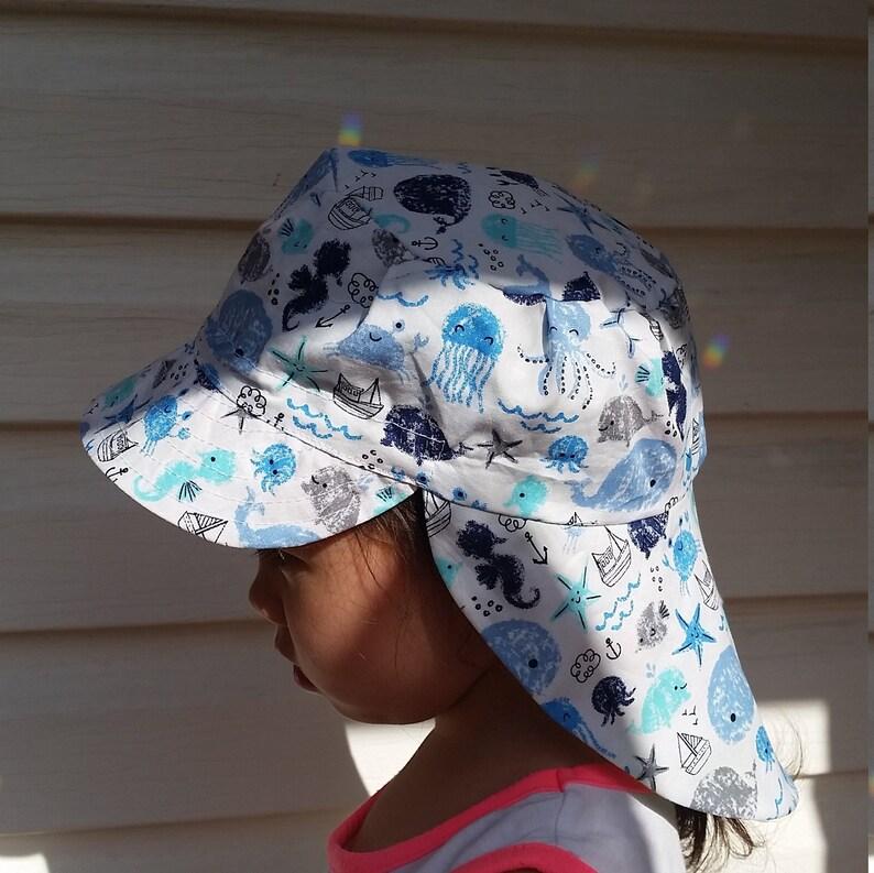 Adjustable Unisex Sun Hat baby hat toddler hat baby sunhat, toddler sunhat  baby legionnaire hat kid legionnaire cap - happy sea animals