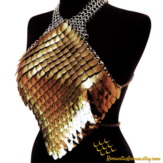 Scale mail metal GOLD DRESS