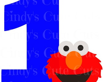 First Birthday Red Monster 1st 1 one Cuttable, dxf, eps, png, jpeg, svg, silhouette, circuit, like elmo