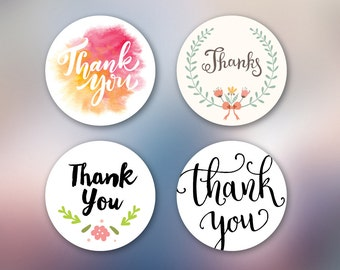 50 Thank you stickers - Favor sticker - Bonbonniere