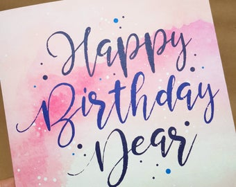 Happy Birthday Card _ Pink
