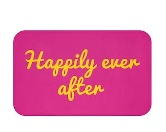Happily ever after Bath Mat - couple bathroom decor - wedding gift - wedding shower gift - bridal shower gift - couples gift - gifts for her