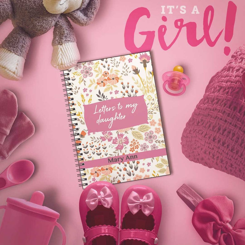 Letters to my Daughter, Gift from Mom, Baby Keepsake Gift, Custom Name  Notebook for Daughter, Journal, Baby Shower, Gift from Mother