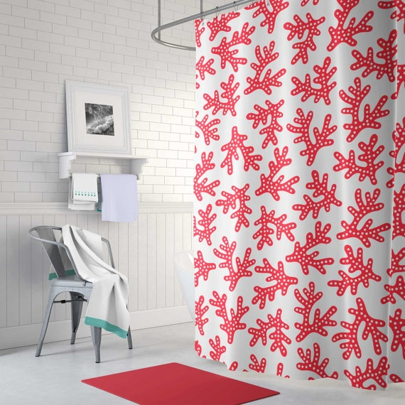 Shower Curtain Coral Summer