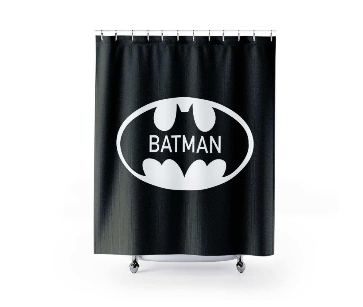 Batman Shower Curtain Superhero Kids