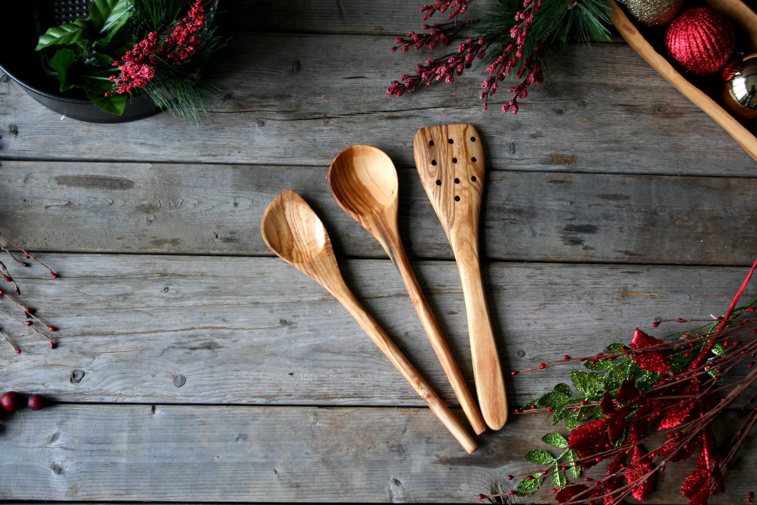 Löffel Spatel für Holz Löffel-Set Küchenutensilien | Etsy