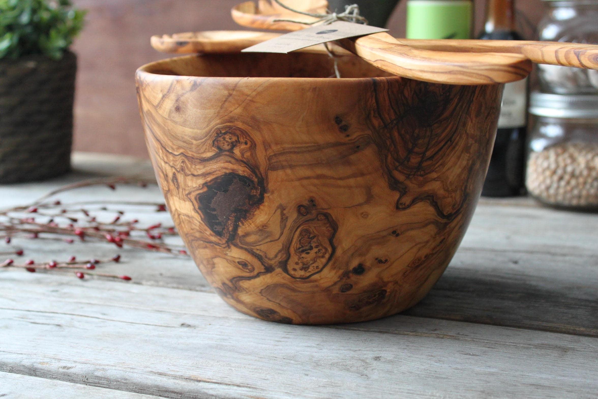 bol de bois saladier saladier en bois bol en bois bois etsy. Black Bedroom Furniture Sets. Home Design Ideas