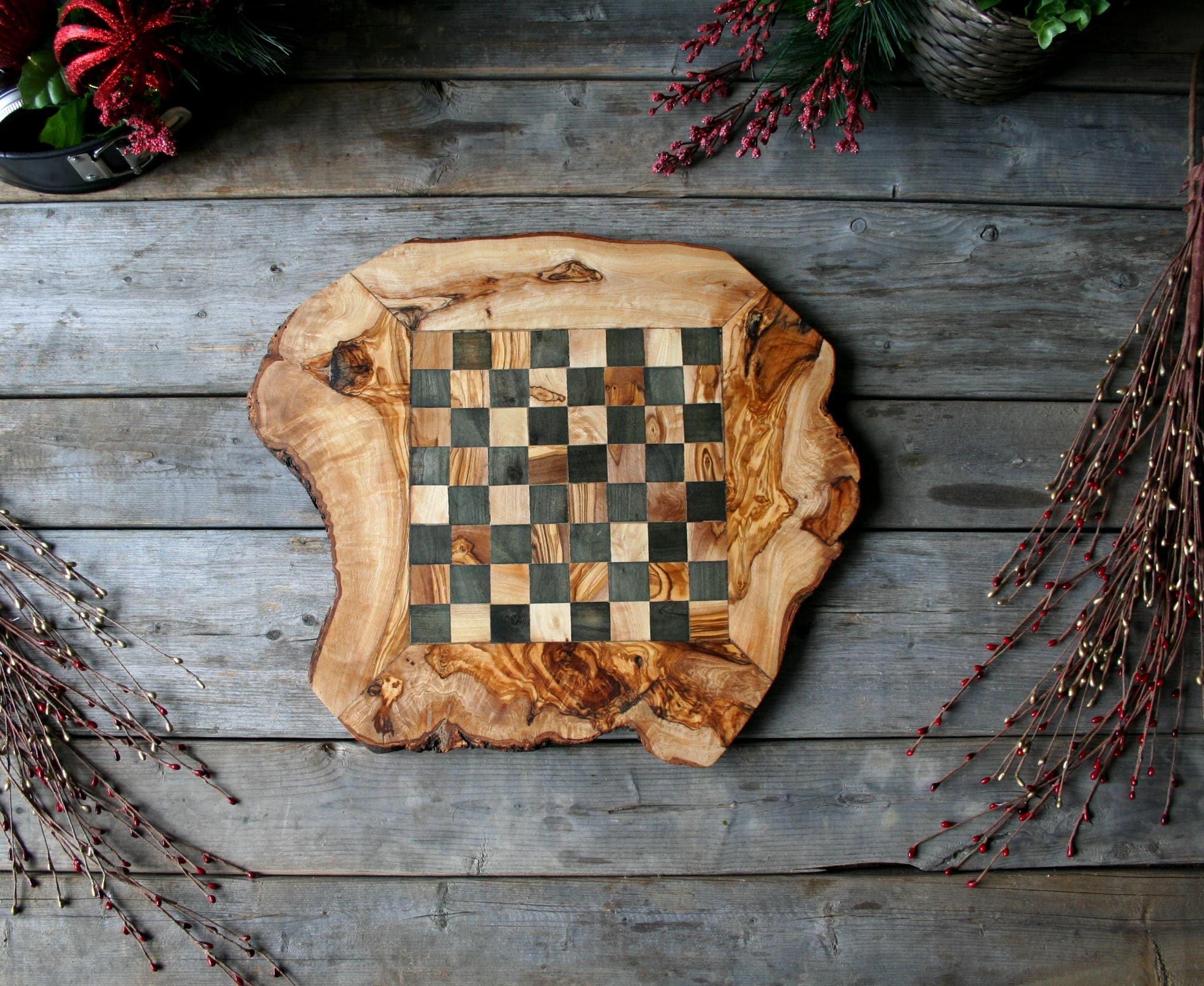 Staatskasse im Holz Schachbrett Schach Dame Geschenk | Etsy