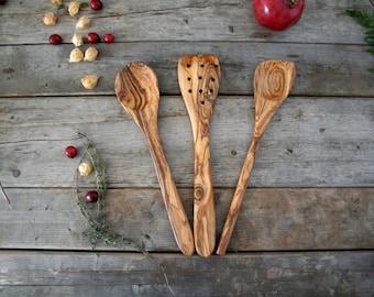 Utensil set , wooden spatula, wooden spoons, wooden utensils , gift for him , gift for her , Wooden kitchen utensils