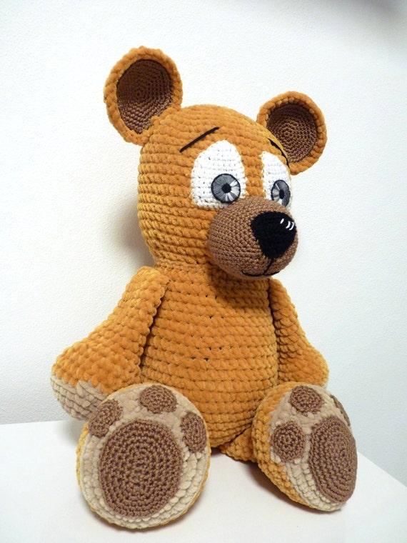 Crochet Pattern Bear Barney Amigurumi Pdf Cute Brown Bear With Etsy