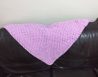 Light purple Crocheted Baby blanket