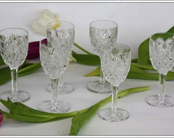 St Louis Florence 6 Bordeaux wine glasses set