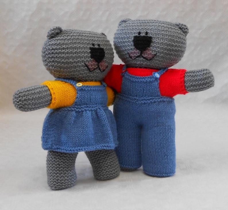 Knit Boy Teddy Bear Clothes PDF Knitting Pattern for ...