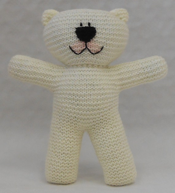 Easy To Knit Teddy Bear Pdf Pattern Suitable For Beginner Etsy