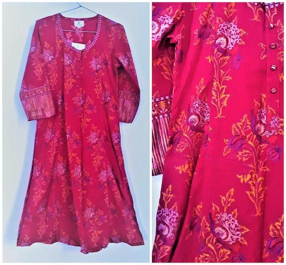 Vintage Anokhi Kurta Dress Cotton India XS size Ha