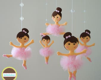 ballerina baby mobile, baby mobile, ballerina crib mobile, baby mobile ballerina, crib mobile ballerina, felt mobile, ballerina, bebidekor