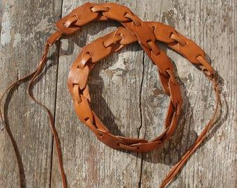 Leather belt, Vintage leather belt, Hippie leather belt, Boho belt, Hippie belt, 70s belt, Vintage belt, Bohemian belt, Festival belt, Boho
