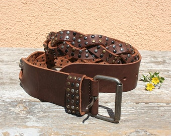 Leather belt, Vintage belt, Italian belt, Leather belt vintage, Leather belt women, Vintage belt women, Boho leather belt, Braided belt
