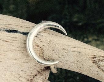 Moon ring/sterling silver ring/Shiva moon ring/Namaste