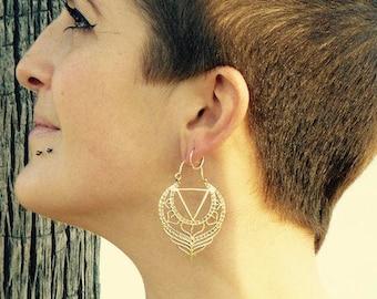 Boucles d'oreilles géométrie sacrée