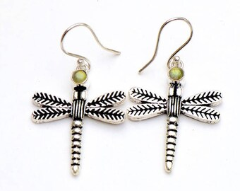 Dragonfly earrings/ Labradorite dragonfly