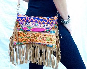Ethnic handbag, Boho chic bag, Embroidered bag, Colorfull boho handbag, Indian embroidery