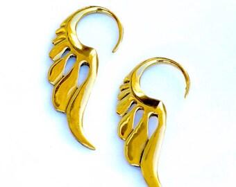 Boucles d oreilles flammes, boucles d en laiton 9dd30e9b5b5