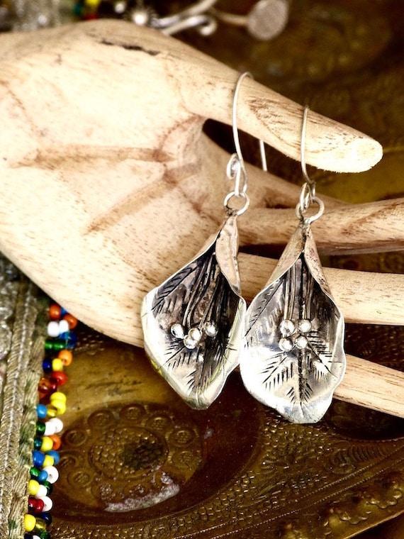 Flower earrings/Ethnic Miao earrings/Boho earrings/Miao tribes jewelry