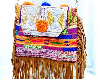 Ethnic handbag/ Boho chic bag/ Embroidered bag/ Colorfull boho handbag