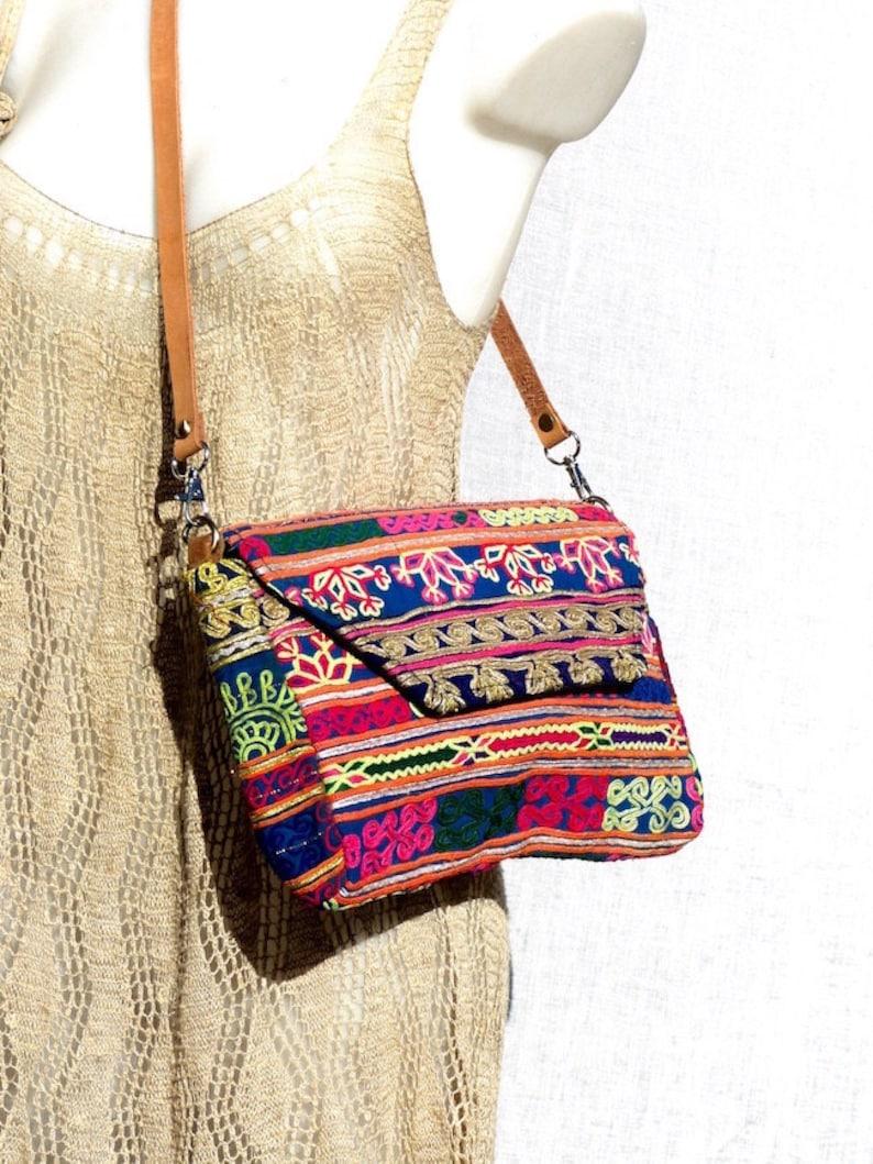Indian Vintage Banjara bandoulière ethnique bohème gypsy Trendy Sac Beige Sac