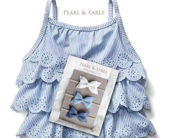 Navy Blue Baby Dress, Blue Baby Dress, Navy Blue Baby Headband, Blue Baby Headband, Blue Baby, Baby Headband Set, Bow Headband Baby,
