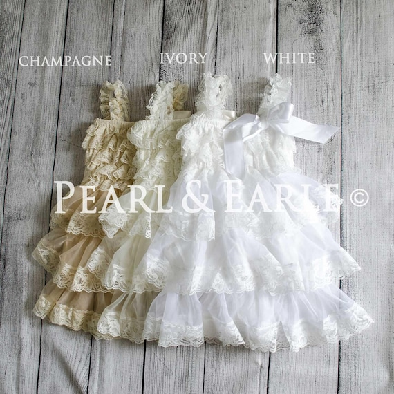 28ec5054825 White Baptism Dress White Christening Dress Church Dress