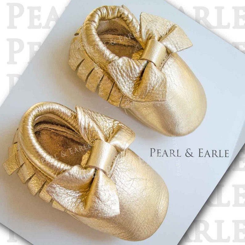 435bb48dd3b47 Holiday Baby Dress, Gold Baby Shoes, Gold Baby Moccasins, Christmas Baby  Girl, Leather Moccasins, , Baby Shoes, Gold Moccasins,