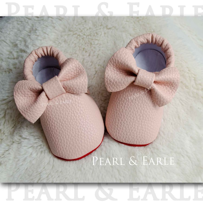 64c39c94a424 Red Bottom Baby Moccasins Red Sole Baby shoes Baby Loub
