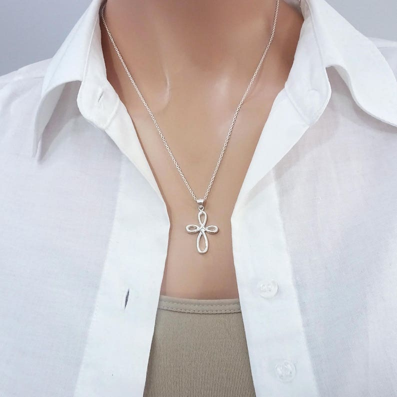 Cross Necklace Confirmation Gift Confirmation Gift Baptism Gift Christmas Gift Christmas Gift Necklace Sterling Silver Cross Necklace