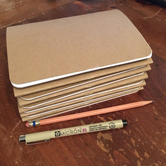 bulk blank notebooks 5 x 7 kraft notebook kraft etsy