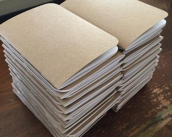 Bulk Blank Notebooks | 3.5 x 5 | Kraft Notebook | Notebook | Sketchbook | Journal | Kraft Journal | Kraft Sketchbook | Travelers Notebook