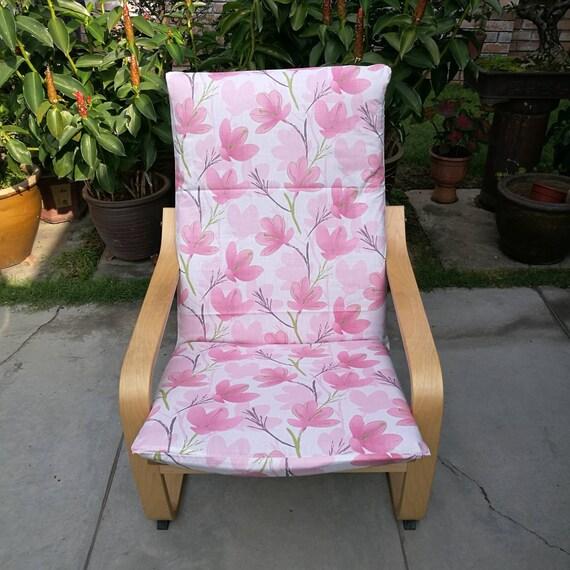 IKEA Poang Housse de chaise coussin de Floral rose imprimé O80nwkNXP
