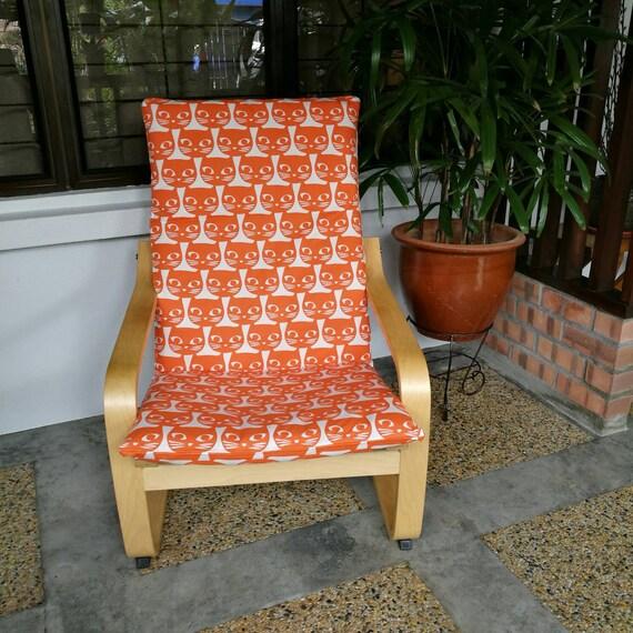 Housse de coussin de chaise poang ikea chatons orange - Coussin de chaise orange ...