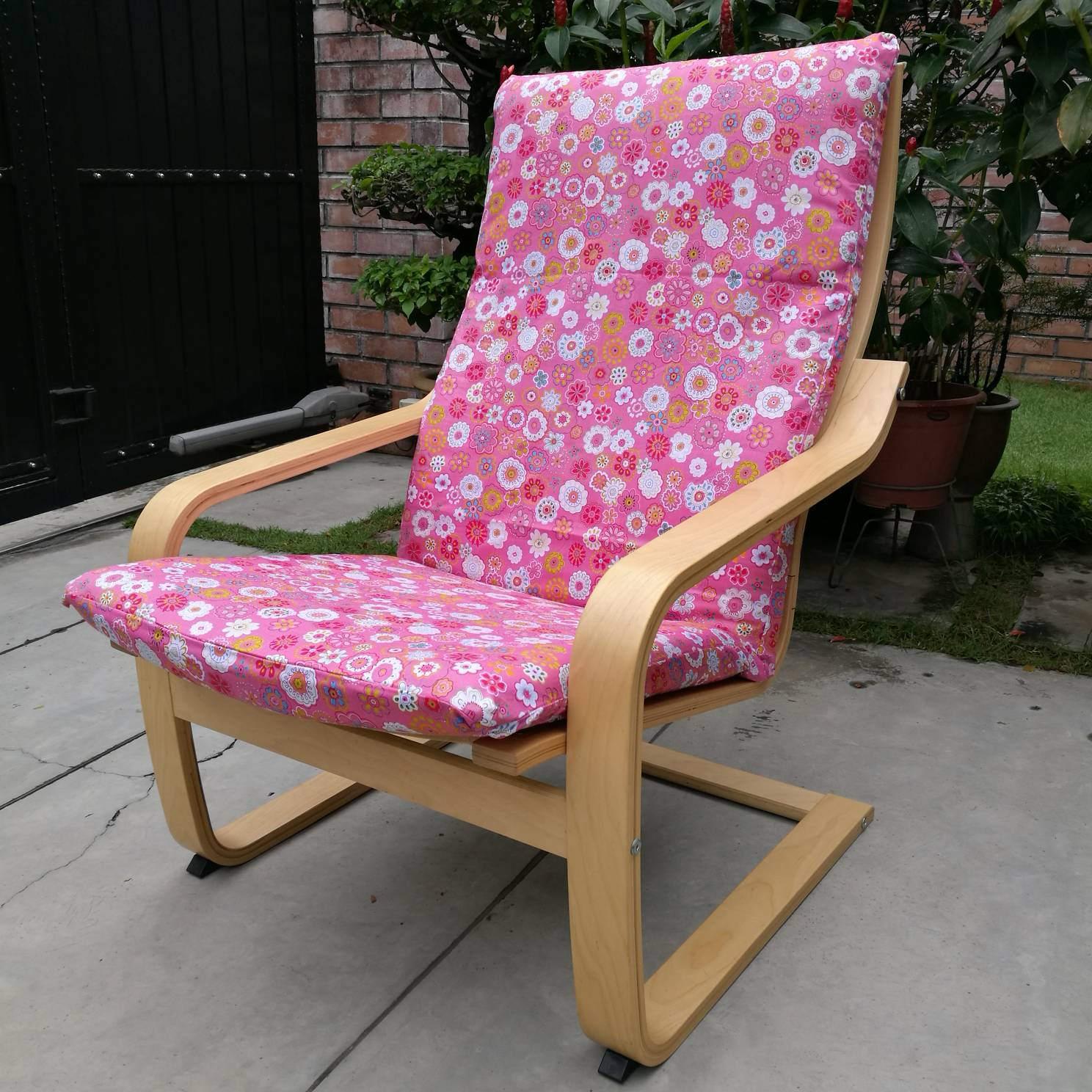 housse de coussin de chaise poang ikea marguerite rose etsy. Black Bedroom Furniture Sets. Home Design Ideas
