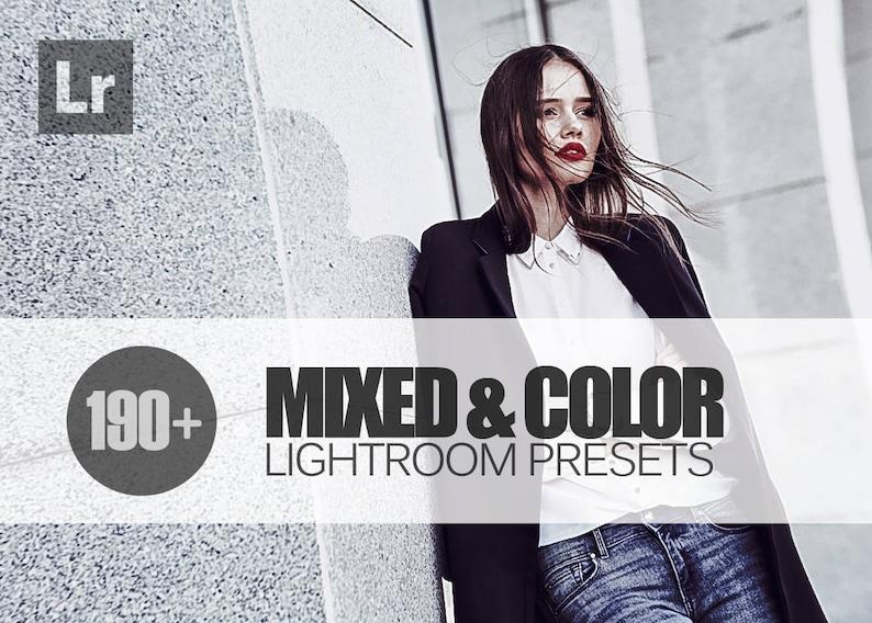 195 Mixed & Color Lightroom Presets Bundle INSTANT DOWNLOAD for  Wedding,Portrait,Fashion,Photography,etc (Presets for Lightroom 5,6,CC)
